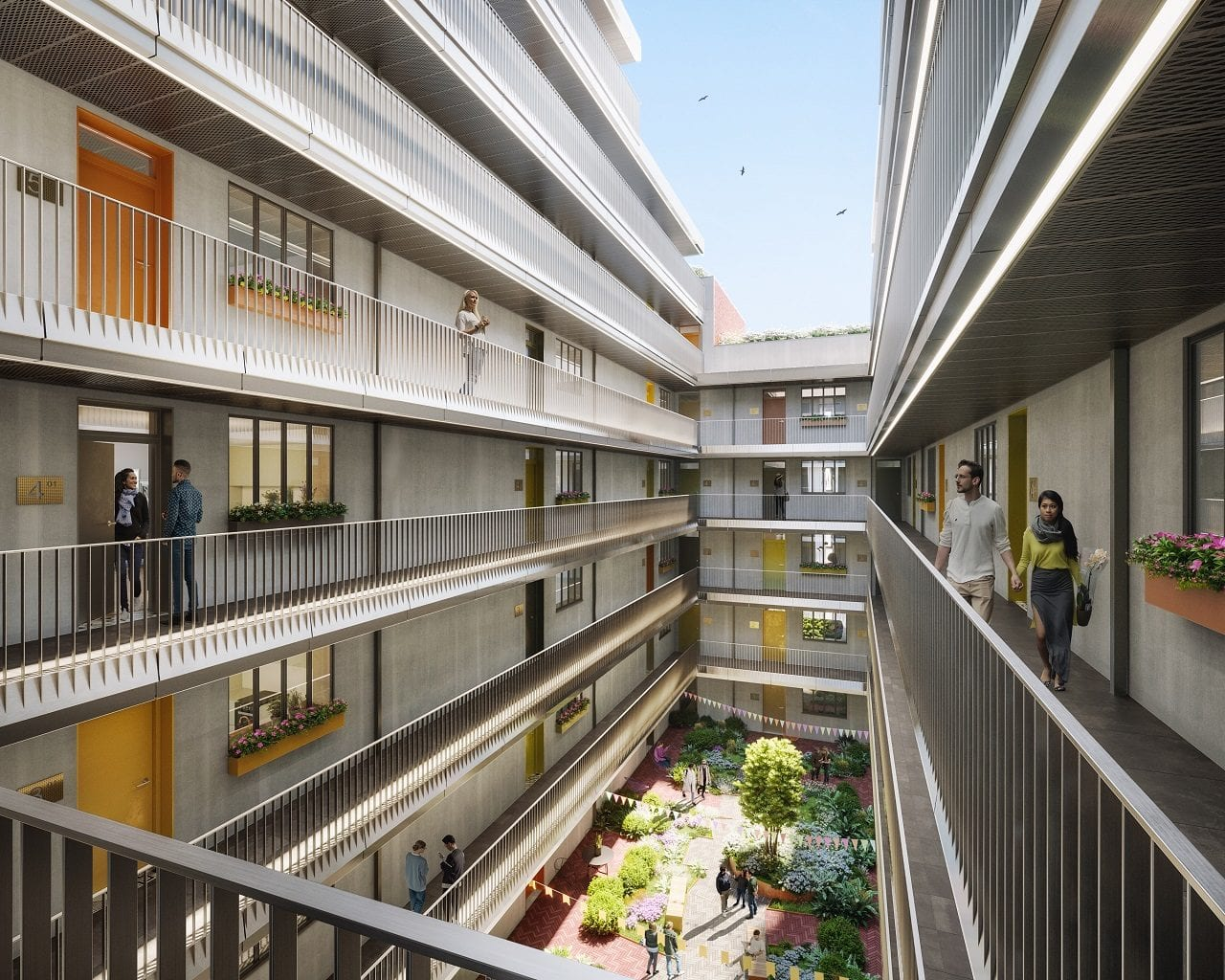 Raeon-New-Cross-Central-_HawkinsBrown_NewCrossCentral_Courtyard_Balcony_V6.0